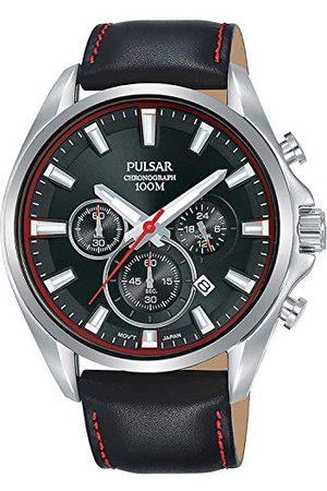Pulsar Kvartsur med läderarmband 8431242963679