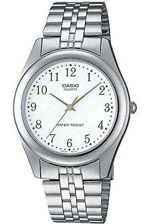 Casio Armband för män klassisk analog kvarts rostfritt stål MTP-1129PA-7BEF