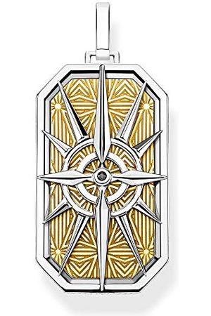 Thomas Sabo Unisex-berlock kompass stjärna 925 sterlingsilver e Silver_guldpläterad, colore: , cod. PE868-849-7