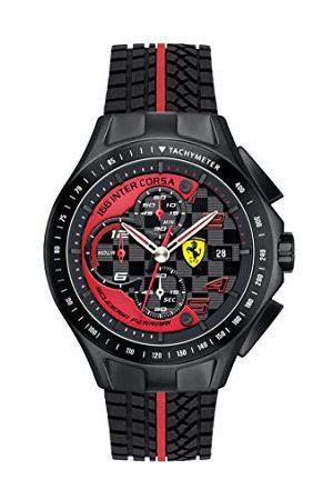 Scuderia Ferrari Kvartsklocka för män, analog klassisk display och silikonrem 0830077