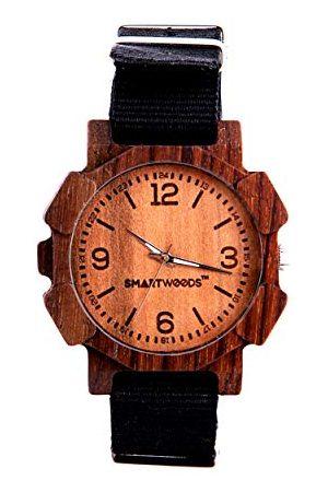SmartWoods Unisex vuxna analog kvartsklocka med nylonarmband 590270621115