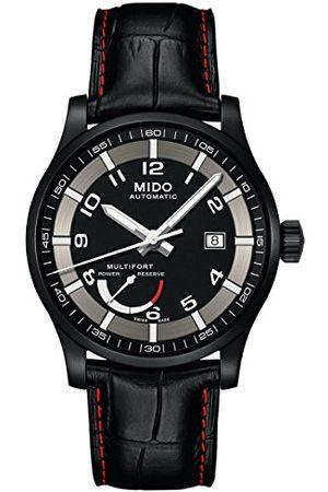MIDO Män analog automatisk klocka med läderarmband M0054243605222