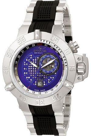 Invicta Subaqua Noma III GMT Sub Second Chronograph Watch 6163 med urtavla och rostfritt stålrem med svarta PU-länkar