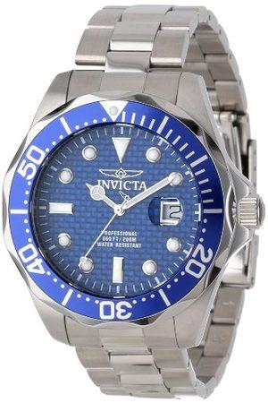 Invicta Herr Pro Diver Quartz klocka med blå urtavla kronograf display och rostfritt stål armband 12563