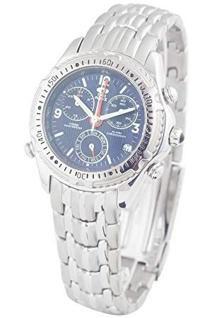 TIME FORCE Herr Chronograph kvartsur med rostfritt stål armband TF1793M-05M