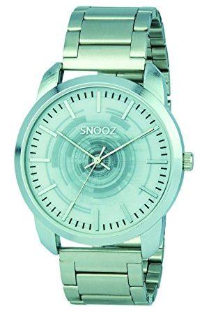 Snooz Herr analog kvartsklocka med rostfritt stål armband Saa0043–61
