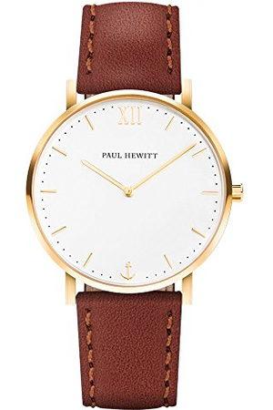 Paul Hewitt Unisex-armbandsur analog kvarts läder PH-SA-G-Sm-W-1S