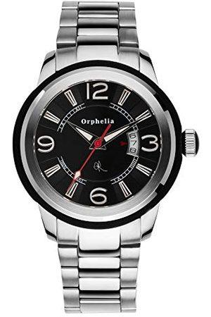 ORPHELIA Herrarmbandsur Black Touch analog kvarts rostfritt stål armband