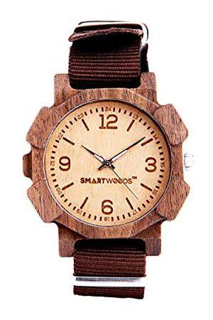 SmartWoods Unisex vuxna analog kvartsklocka med nylonarmband 5902706213805