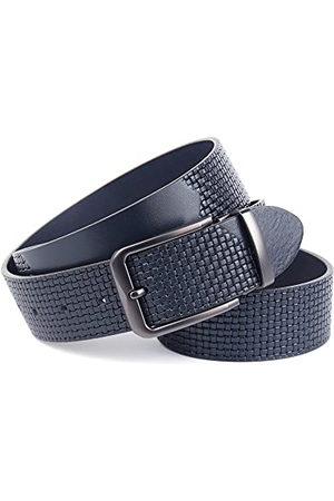 Anthoni Crown Bälten - Unisex BLU3P4580-120 bälte, mörkblå, 120