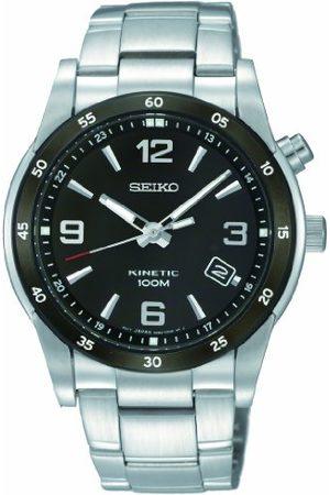 Seiko Herr kvartsklocka med urtavla analog display och rostfritt stål armband SKA505P1