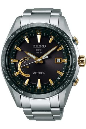 Seiko Herr analog solklocka med titan armband SSE087J1