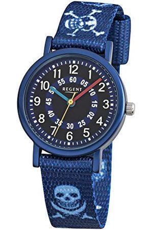 Regent 12400247 – armbandsur, armband av tyg färg blå