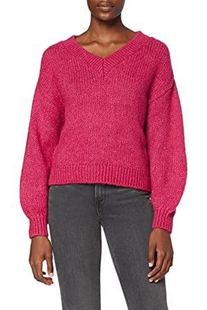 NA-KD V-ringad stickad tröja för kvinnor pullover