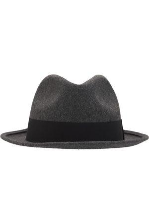 Saint Laurent Man Hattar - Fedora Hat W/ Grosgrain Ribbon