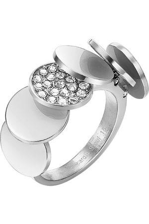 Pierre Cardin Män rostfritt stål kubisk zirkonia-ringar