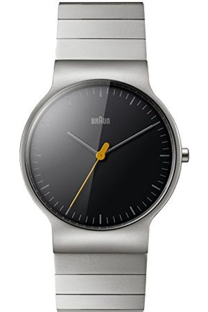 von Braun Analog klassisk kvartsklocka med rostfritt stålrem BN0211BKSLBTG