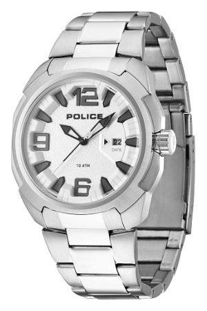 Police Polis herrarmbandsur XL TEXAS analog kvarts rostfritt stål PL.13904JPBBL/02
