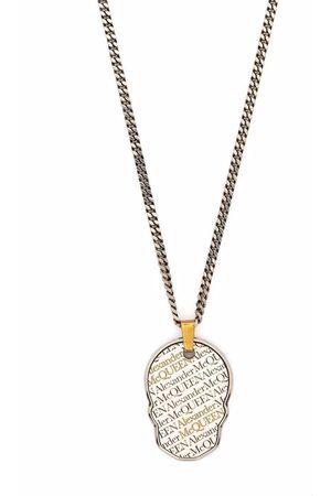 Alexander McQueen Man Halsband - Skull pendant necklace