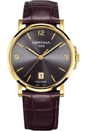 Certina Mäns armbandsur XL analog kvarts läder C017.410.36.087.00