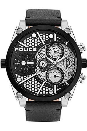 Police Polis unisex vuxna analog kvartsklocka med läderarmband PL15381JSTB.04A
