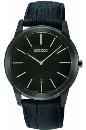 Seiko Kvartsklocka för män med urtavla och läderrem SKP375P1