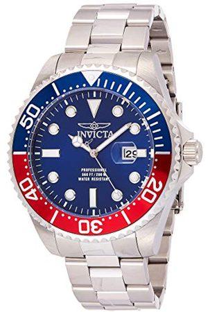 Invicta 22823 Pro Diver Armbandsur för män rostfritt stål kvarts blå urtavla