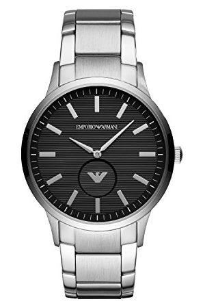 Emporio Armani Mäns analoga kvartsur med rostfritt stålrem Armband 2t Black/