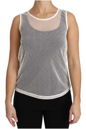 Dolce & Gabbana Net Transparent Sleeveless Tank Top