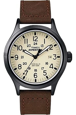 Timex Mäns expedition scout 40 mm klocka rem Brown/White