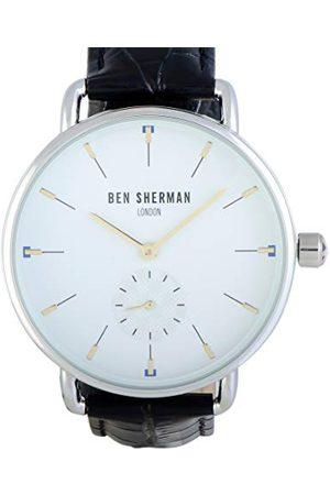 Be Sherman Herr analog kvartsklocka med läderrem WB063WB