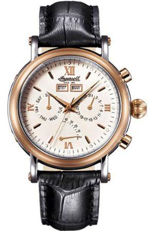 INGERSOLL 1892 Man Klockor - Automatisk klocka för män CILA IN4502RWH med läderrem
