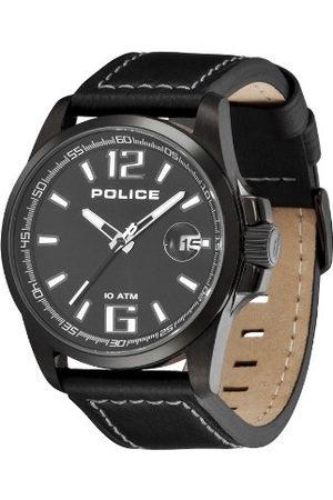 Police Polis unisex kvartsklocka med urtavla analog display och läderrem DL31.71PL