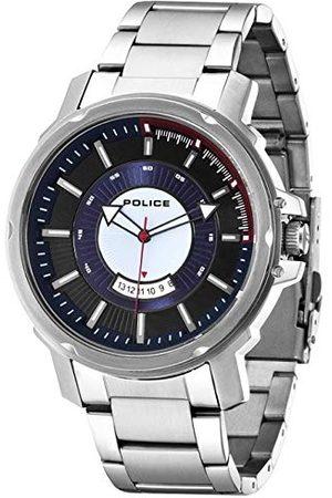 Police Herr analog kvartsklocka med rostfritt stål armband P14382JS-02M