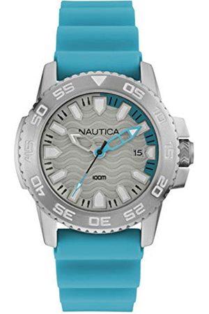 Nautica Herr analog kvartsklocka med silikonrem NAI12531G