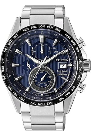 Citizen Mäns kronograf solklocka med titan armband AT8154-82L