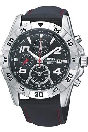 Lorus Watches herrarmbandsur XL HAU Sports ZB kronograf läder RF805DX9