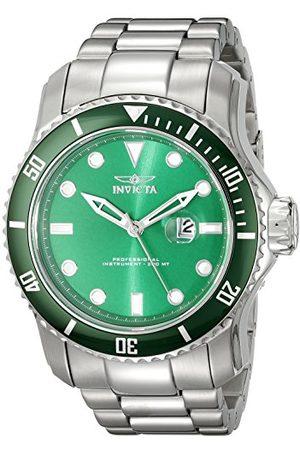 Invicta 20096 Pro Diver armbandsur för män rostfritt stål kvarts grön urtavla