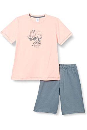 Sanetta Pojkar kort rosa baby- och småbarn sovplagg