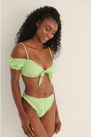 Mimi A.R x NA-KD Kvinna Bikinis - Recycled Bikinitrosa Med Volangdetaljer
