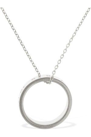 Maison Margiela Number Logo Ring Charm Long Necklace