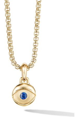 David Yurman Man Halsband - Evil Eye safirsmycke i 18K gult guld