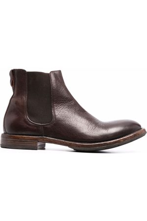 Moma Man Chelsea - Distressed leather Chelsea boots