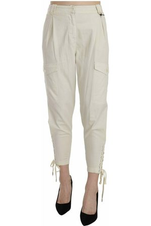 Just Cavalli Kvinna Trekvartsbyxor - High Waist Tapered Cropped Trousers