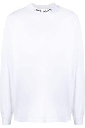 Palm Angels Långärmad t-shirt med logotyp
