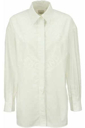 Burberry Clariss - Oversized Oxford shirt with logo