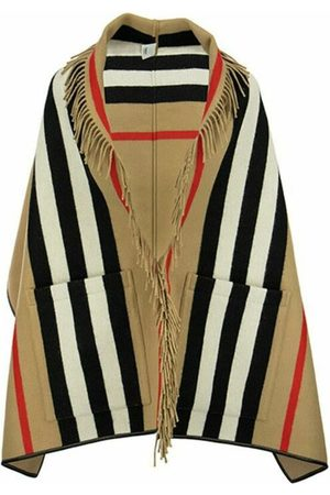 Burberry Jacquard cape with iconic striped pattern