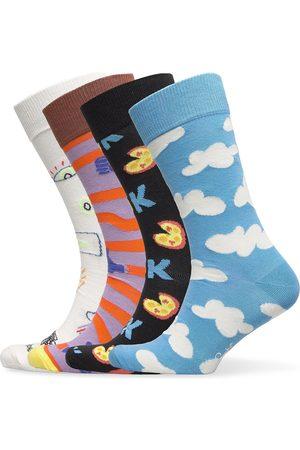 Happy Socks 4-Pack Good Times Socks Gift Set Underwear Socks Regular Socks Multi/mönstrad
