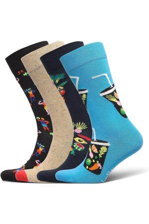 Happy Socks 4-Pack Healthy Lifestyle Socks Gift Set Underwear Socks Regular Socks Blå