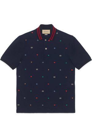 Gucci Man Pikétröjor - Polo with symbols embroidery